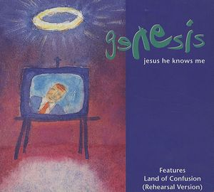 Genesis Jesus He Knows Me 5'' CD single album cover