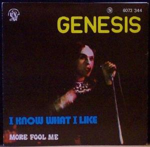 Genesis I Know What I Like / More Fool Me album cover