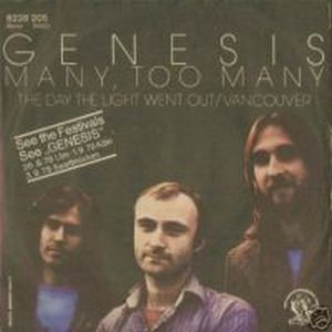 Genesis - Many Too Many CD (album) cover