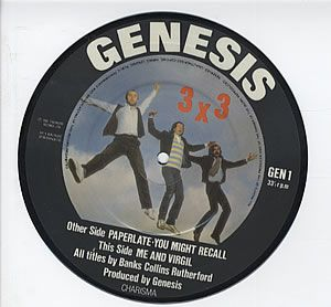 Genesis Paperlate picture 7'' album cover