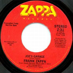 Frank Zappa Joe's Garage album cover