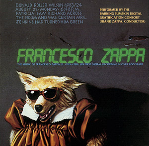 Frank Zappa - Francesco Zappa CD (album) cover