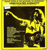 Frank Zappa Unmitigated Audacity album cover