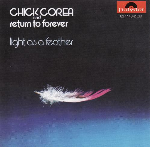 Return To Forever - Light As A Feather CD (album) cover
