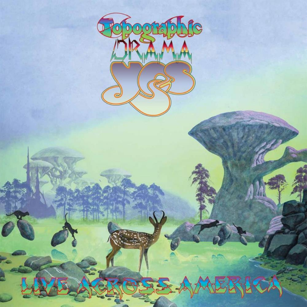 Topographic Drama: Live Across America by YES album cover