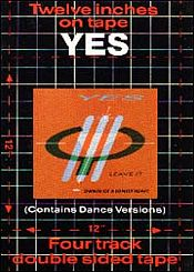 Twelve Inches on Tape by YES album cover