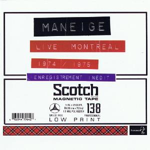 Maneige - Live Montréal 1974/1975 CD (album) cover