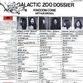 Arthur Brown's Kingdom Come - Galactic Zoo Dossier  CD (album) cover