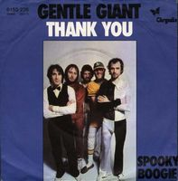 Gentle Giant Thank You (edit) album cover