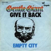Gentle Giant Give It Back album cover