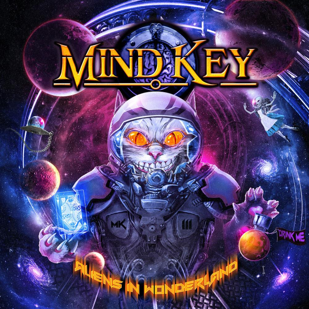 Aliens In Wonderland by MIND KEY album cover