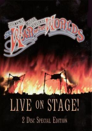 Jeff Wayne - Jeff Wayne's Musical Version: The War of the Worlds, Live on stage CD (album) cover