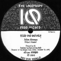 IQ - The Legendary IQ Free Record CD (album) cover