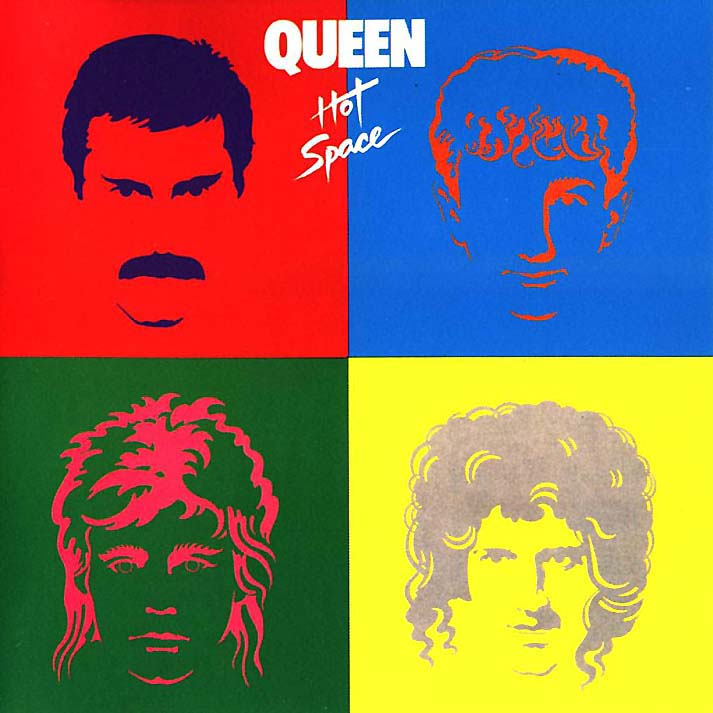Hot Space by QUEEN album cover
