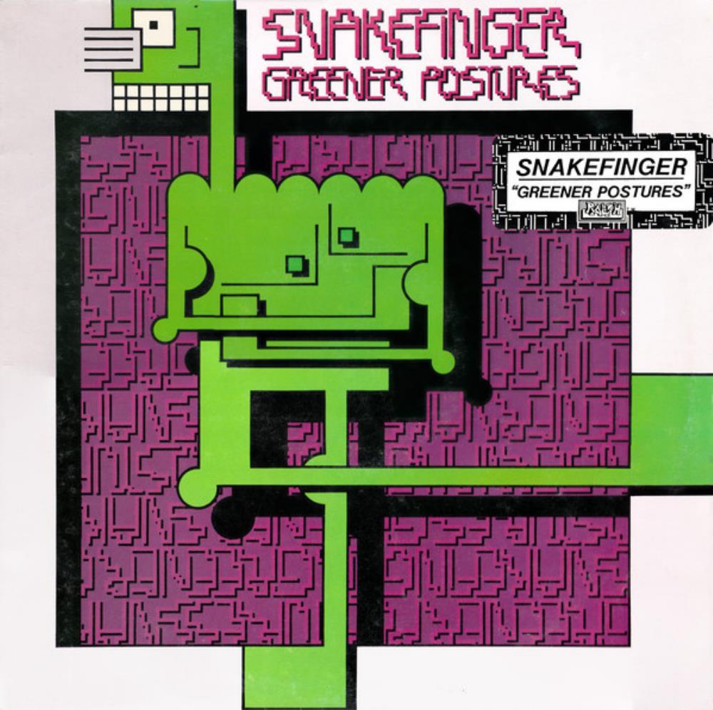 Greener Postures by SNAKEFINGER album cover