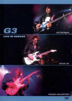 Steve Vai - Joe Satriani, Steve Vai, Yngwie Malmsteen- G3 Live In Denver CD (album) cover
