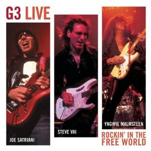 Steve Vai Joe Satriani, Steve Vai, Yngwie Malmsteen- G3 Rockin' In The Free World album cover