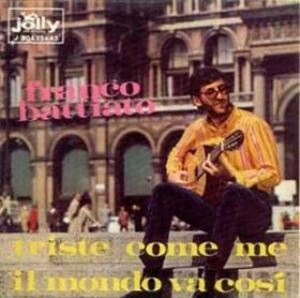 Franco Battiato Triste come me - Il mondo va cos� album cover