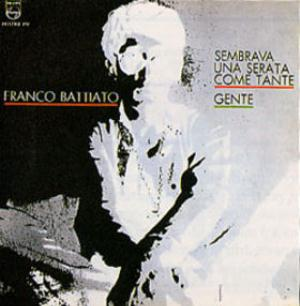 Franco Battiato - Sembrava una serata come tante - Gente CD (album) cover