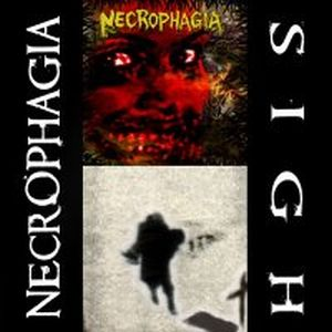 Sigh Sigh / Necrophagia split album cover