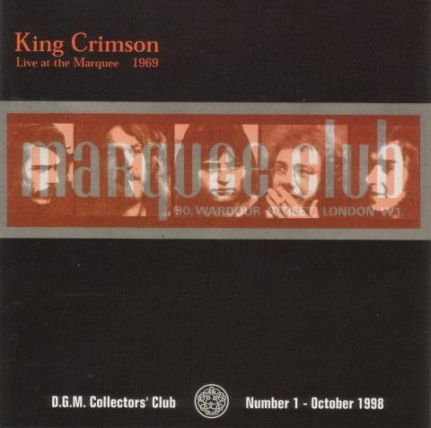 King Crimson - Live at The Marquee 1969  CD (album) cover