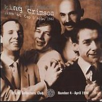 King Crimson - Live at Cap D'Agde 1982  CD (album) cover