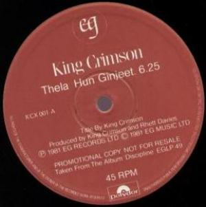 King Crimson Thela Hun Ginjeet album cover