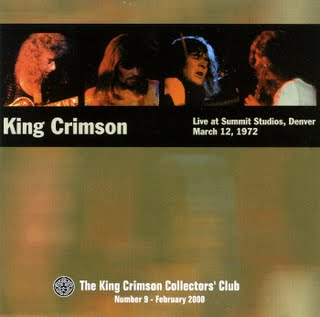 King Crimson Live at Summit Studios 1972  album cover