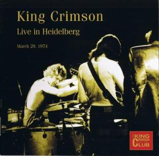 King Crimson Live in Heidelberg, 1974 album cover