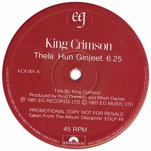 King Crimson Discipline 12'' Sampler album cover