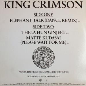 King Crimson Elephant Talk album cover