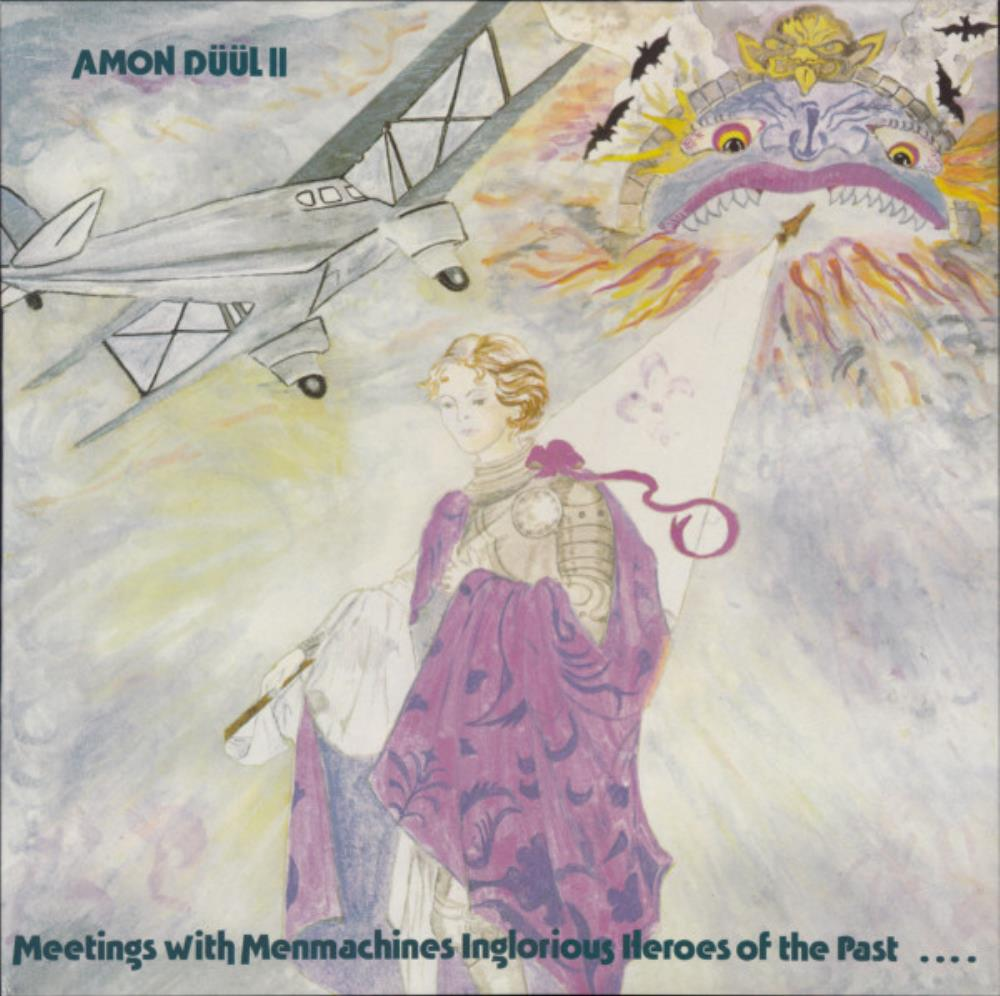 Meetings With Menmachines, Unremarkable Heroes Of The Past by AMON DÜÜL album cover