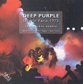 Deep Purple - Live In Paris 1975: La Dernière Seance CD (album) cover