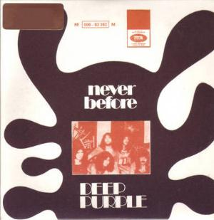 Deep Purple Never Before / When a Blind Man Cries album cover