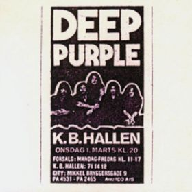 Deep Purple Live in Denmark 1972  album cover
