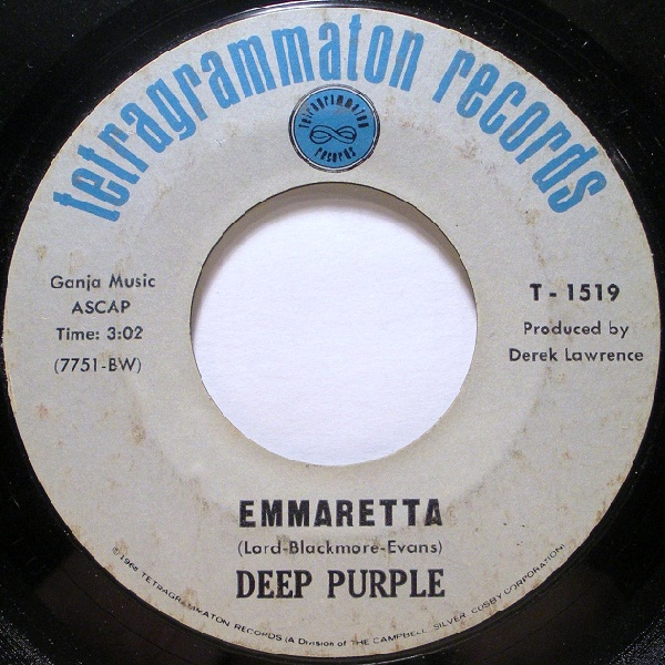 Deep Purple Emmaretta / The Bird Has Flown album cover