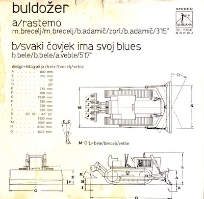 Rastemo/Svaki čovjek ima svoj blues by BULDOZER album cover