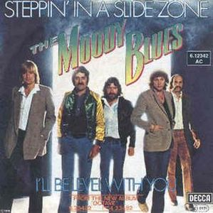 The Moody Blues Steppin' in a Slide Zone album cover