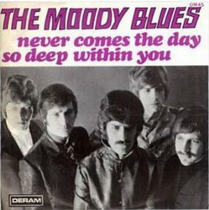 Never Comes the Day by MOODY BLUES, THE album cover