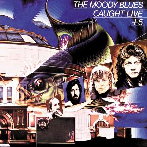 The Moody Blues - Caught Live + 5  CD (album) cover