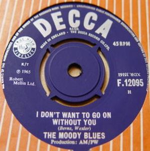 The Moody Blues I Don't Want to Go On Without You album cover