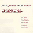 Chansons  by GREAVES, JOHN album cover