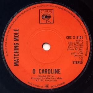 O Caroline by MATCHING MOLE album cover