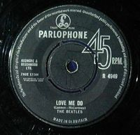 The Beatles Love Me Do album cover