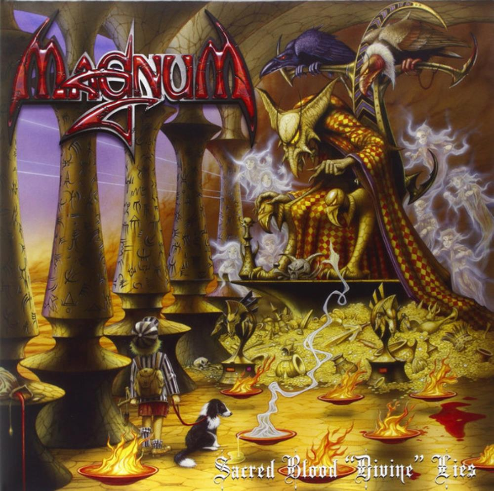 Sacred Blood Divine Lies by MAGNUM album cover