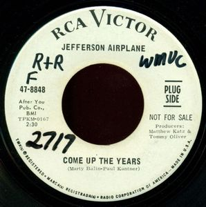 Jefferson Airplane Come Up the Years album cover
