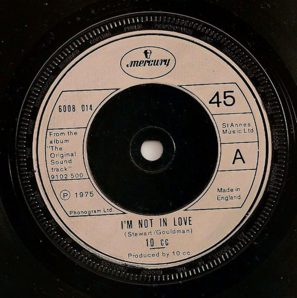 I'm Not in Love by 10CC album cover