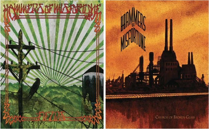 Hammers of Misfortune Fields / Church Of Broken Glass album cover