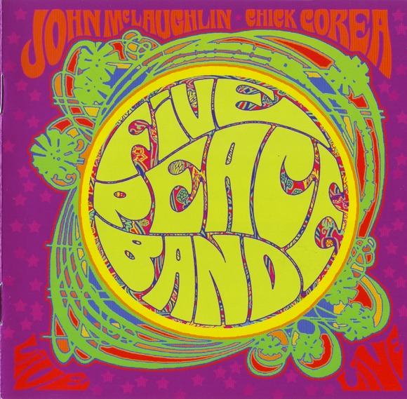 John McLaughlin - Five Peace Band (with Chick Corea) CD (album) cover