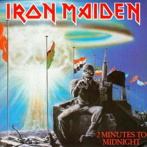 Iron Maiden 2 Minutes to Midnight album cover